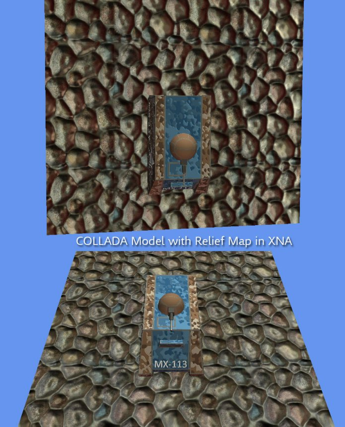 Cobblestone with Relief Mapping effect